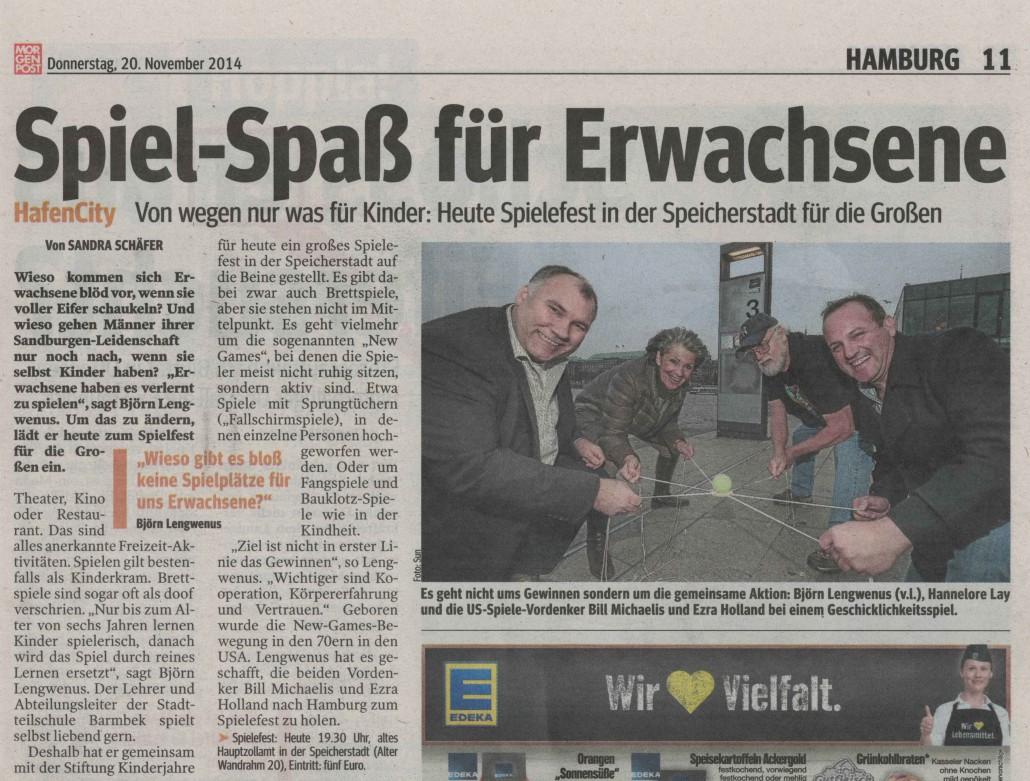 Artikel in der Hamburger Morgenpost