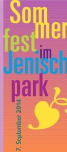 Flyer des JenischPark-SommerFests
