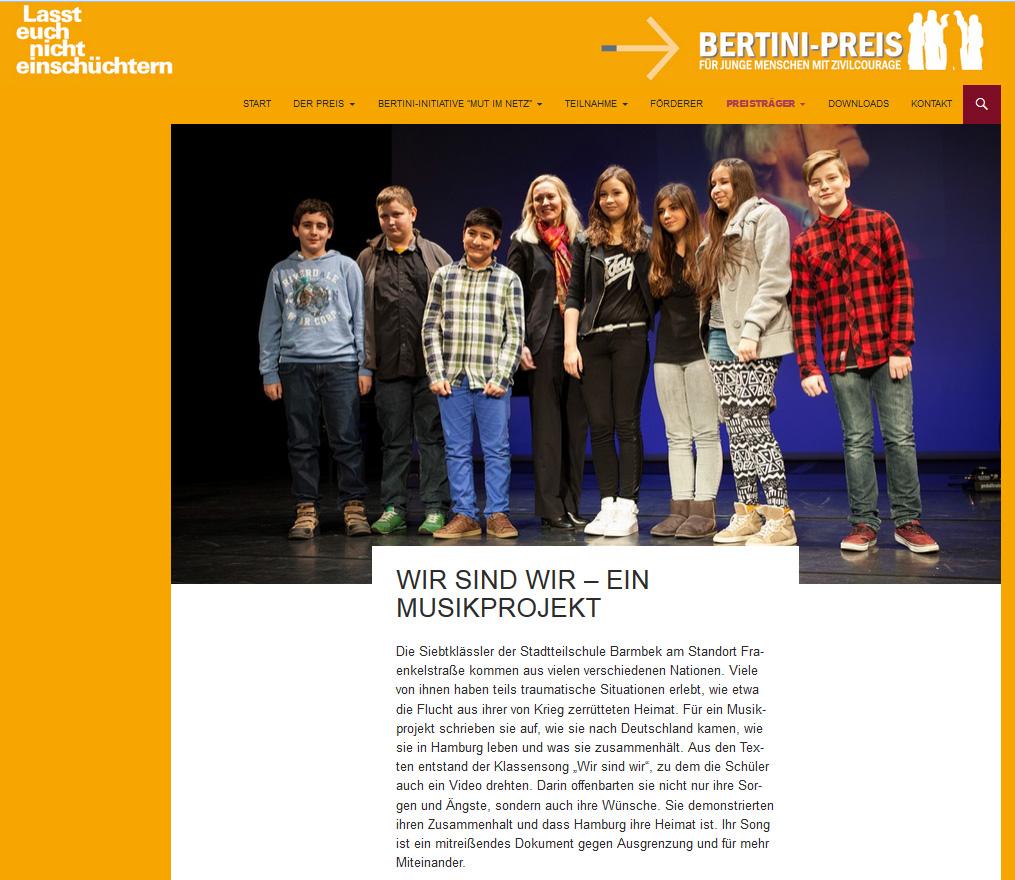 Homepage Bertini-Preis